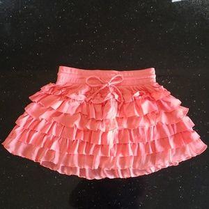 Aeropostale neon pink/coral mini ruffled skirt